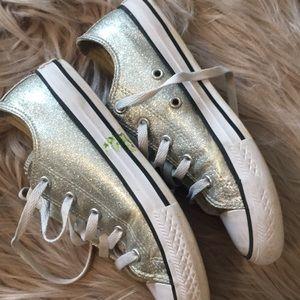 Sparkle silver Converse